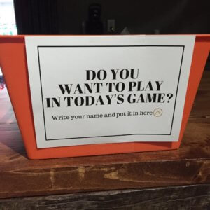 Want to play the game? (youth ministry)