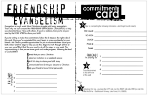 Doug Fields - Friendship Evangelism Card - Purpose Driven Youth Ministry