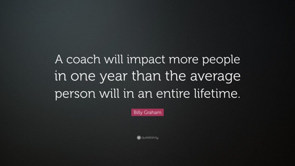 Billy Graham quote about coaching