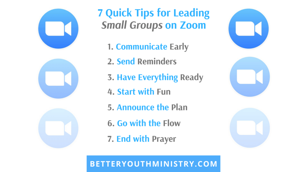 7 Quick Tips for Leading Small Groups on Zoom